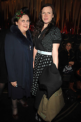 Left to right, SUZY MENKES and KATIE GRAND at the launch of the 4th Fashion Fringe - a search to recruit the hottest, undiscovered fashion desugn talent in the UK and Ireland, held at The Bar at The Dorchester, Park Lane, London on 13th March 2007.<br /><br />NON EXCLUSIVE - WORLD RIGHTS