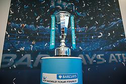 November 13, 2016 - London, United Kingdom - ATP Finals: Tournament's Trophy in exhibition for the fans. (Credit Image: © Alberto Pezzali/Pacific Press via ZUMA Wire)