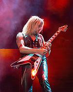 RICHIE FAULKNER of Judas Priest at San Manuel Amphitheater in San Bernardino, California