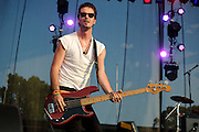L.A.-based band Airborne Toxic Event performing at LouFest in St. Louis on August 28, 2010.