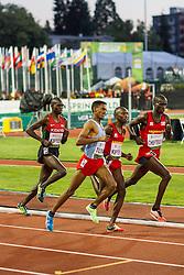 mens 5000 meters, leaders Cheptegei, Kipyeko, Tuemay, Kiptoo