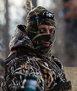 Tony Troxell looking for ducks while hunting in Shamrock, Oklahoma