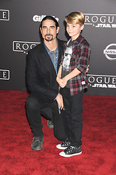 December 10, 2016 - Los Angeles, CA, United States of America - Kevin Richardson (L) and Mason Richardson arriving at the Star Wars ''Rogue One'' World Premiere at the Pantages Theater on December 10 2016 in Hollywood, CA  (Credit Image: © Famous/Ace Pictures via ZUMA Press)