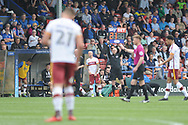 Bradford City forward, and new signing,  Kai Bruenker (21)  substituted during the EFL Sky Bet League 1 match between Rochdale and Bradford City at Spotland, Rochdale, England on 21 April 2018. Picture by Mark Pollitt.