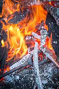 Campfire, Estancia Huechahue, Patagonia, Argentina, South America