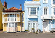 Historic colourful houses on the seafront, Aldeburgh, Suffolk, England, UK - The Art House