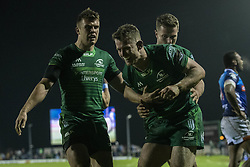 March 22, 2019 - Ireland - Matt Healy of Connacht celebrates scoring during the Guinness PRO14 match between Connacht Rugby and Benetton Rugby at the Sportsground in Galway, Ireland on March 22, 2019  (Credit Image: © Andrew Surma/NurPhoto via ZUMA Press)