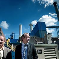 Nederland. Roermond.13 mei 2015.<br /> Directeuren Jos Dumoulin (l) en Dick Snellenberg uit de RVB van Rockwool.