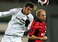 Fotball , 14. desember 2006 , UEFA-Cup Bayer 04 Leverkusen - Besiktas Istanbul<br /> v.l. Burak Yilmaz, Sergej Barbarez Leverkusen<br /> Norway only
