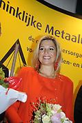 Prinses Maxima is donderdag aanwezig bij de uitreiking van de Metaalunie Productivity Award bij de Koninklijke Metaalunie in Nieuwegein. De prijs wordt jaarlijks uitgereikt aan een mkb-bedrijf in de metaal dat zich op een bepaald gebied aantoonbaar positief onderscheidt. //<br /> <br /> Princess maxima is present at the presentation of the metal Union Productivity Award at the royal metal Union in Nieuwegein. The price is distributed annually to a SME in metal which distinguishes himself positive in a certain area