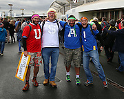 USA fans prior to kick off during the Rugby World Cup Pool B match between South Africa and USA at the Queen Elizabeth II Olympic Park, London, United Kingdom on 7 October 2015. Photo by Matthew Redman.