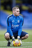Southend United goalkeeper Ted Smith (22) warming up before the EFL Sky Bet League 1 match between Southend United and Luton Town at Roots Hall, Southend, England on 26 January 2019.