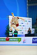 Staykova Sara during qualifying ball at the Pesaro World Cup 01 April 2016. Sara is an Bulgarian individual rhythmic gymnast, she was born in 13 November 1993 Plovdiv, Bulgaria.She retired from rhythmic gymnastics in May 2016.