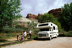 Utah: RV Camping, travel, family vacation, scenic horizontal landscape. .Photo copyright Lee Foster, www.fostertravel.com..Photo #: rvutah103, 510/549-2202, lee@fostertravel.com