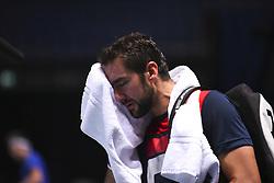 November 16, 2017 - London, England, United Kingdom - Marin Cilic of Croatia has a training session on day five of Nitto ATP World Tour Finals at the O2 Arena, London on November 16, 2017. (Credit Image: © Alberto Pezzali/NurPhoto via ZUMA Press)