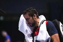 November 16, 2017 - London, England, United Kingdom - Marin Cilic of Croatia has a training session on day five of Nitto ATP World Tour Finals at the O2 Arena, London on November 16, 2017. (Credit Image: © Alberto Pezzali/NurPhoto via ZUMA Press)