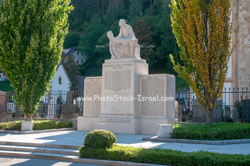 First and second World War memorial, Landeck, Tirol, Austria