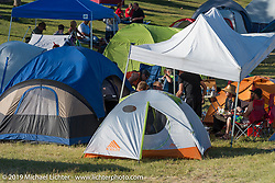 Camping area at Arizona Bike Week's Cycle Fest at Westworld. USA. April 5, 2014.  Photography ©2014 Michael Lichter.