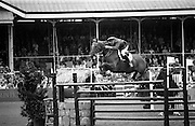 "07/08/1987<br /> 08/07/1987<br /> 07 August 1987<br /> Bank of Irelands Nations Cup for the Aga Khan trophy competition. Commandant Gerry Mullins (Ireland) on ""Rockbarton""."