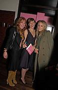 Charlote Tilbury, Rita Konig and Bay Garnett, Party to celebrate the publication of 'Rita's Culinary Trickery' by Rita Konig. Morton's. 18 November 2004.  ONE TIME USE ONLY - DO NOT ARCHIVE  © Copyright Photograph by Dafydd Jones 66 Stockwell Park Rd. London SW9 0DA Tel 020 7733 0108 www.dafjones.com