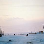Olkhon Island winter evening, Siberia, Russia