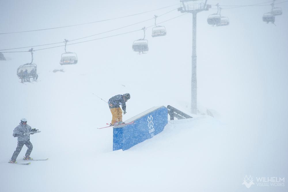 McRae Williams during Men's Ski Slopestyle Eliminations at the 2013 X Games Tignes in Tignes, France. ©Brett Wilhelm/ESPN