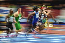 March 4, 2018 - Birmingham, England, United Kingdom - Aurel Manga ofFrance at 60 meters hurdles at World indoor Athletics Championship 2018, Birmingham, England on March 4, 2018. (Credit Image: © Ulrik Pedersen/NurPhoto via ZUMA Press)