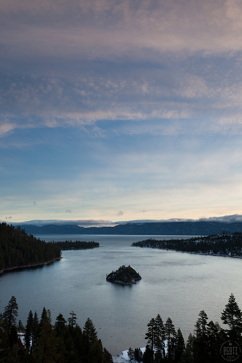 """""""Emerald Bay 4"""" - Photograph of the world famous Emerald Bay in Lake Tahoe, CA in the early morning."""