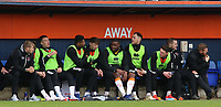 The Blackpool substitutes looks on from the bench<br /> <br /> Photographer David Shipman/CameraSport<br /> <br /> The EFL Sky Bet League One - Luton Town v Blackpool - Saturday 6th April 2019 - Kenilworth Road - Luton<br /> <br /> World Copyright © 2019 CameraSport. All rights reserved. 43 Linden Ave. Countesthorpe. Leicester. England. LE8 5PG - Tel: +44 (0) 116 277 4147 - admin@camerasport.com - www.camerasport.com