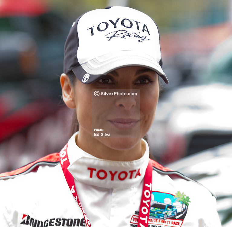 LONG BEACH, CA - APR 13:  Mexican super star Actress Kate Del Castillo gets ready for practice day at the 2012 Toyota Celebrity/PRO Race in Long Beach, CA. All fees must be ageed prior to publication,.Byline and/or web usage link must  read SILVEX.PHOTOSHELTER.COM Photo by Eduardo E. Silva