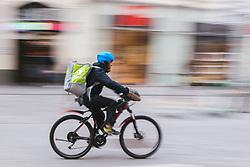 """THEMENBILD - Radlieferanten von """"Mjam.at"""" in der wiener Innenstadt in Folge des Coronavirus-Ausbruchs in Oesterreich, aufgenommen am 14.03.2020, Wien, Oesterreich // bike deliveryman of """"Mjam.at"""" in Vienna's city center as a result of the coronavirus outbreak in Austria, Vienna, Austria on 2020/03/14. EXPA Pictures © 2020, PhotoCredit: EXPA/ Florian Schroetter"""