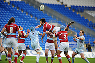 Racing Metro's Antoine Battut (7) loses the ball.  Heineken cup, Cardiff Blues v Racing Metro at the Cardiff city stadium in Cardiff, South Wales  on Sunday 22nd  Jan 2012. pic by Andrew Orchard, Andrew Orchard sports photography,