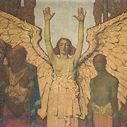 Part of a large mural that runs along the top of the wall above Lincoln's Second Inaugural Address in the Lincoln Memorial in Washington DC.
