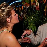 NLD/Noordwijk/20100502 - Gerard Joling 50ste verjaardag, Caroline Tensen en partner Peter Gallas