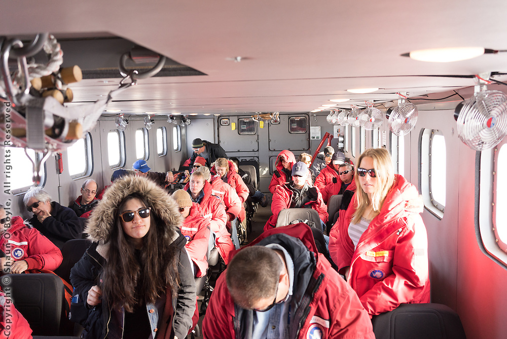 Riding the Kress shuttle out to the LDB site on the Ross Ice shelf from McMurdo Station