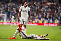 Real Madrid's player Gareth Bale and Mariano Diaz Mejiaduring a match of La Liga Santander at Santiago Bernabeu Stadium in Madrid. August 27, Spain. 2016. (ALTERPHOTOS/BorjaB.Hojas)
