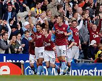 Photo: Glyn Thomas.<br />Aston Villa v Birmingham City. The Barclays Premiership. 16/04/2006.<br /> Milan Baros (L) celebrates after giving Aston Villa the lead.