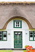 Traditional thatched cottage house on Fano Island - Fanoe - South Jutland, Denmark