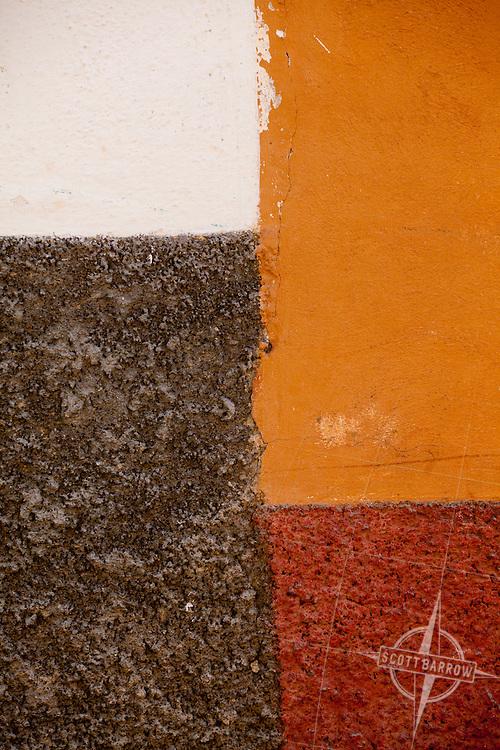 Colorful stucco wall.
