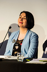 Pictured: Monica Lennon (Labour)<br /> <br /> Candidates from the five main parties faced questions at the Building Scotland's Future election hustings today. The panalists, Kath Gordon (Lib Dem), Marco Biagi (SNP), Monica Lennon (Labour), Ian McGill (Conservatives) and Maggie Chapman (Co-convenor of the Scottish Greens) were quizzed on issued affecting infrastructure and the build environment.  <br /> <br /> Ger Harley | EEm 19 April 2016