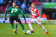 Ali Crawford of Doncaster Rovers (11) in action during the EFL Sky Bet League 1 match between Doncaster Rovers and Coventry City at the Keepmoat Stadium, Doncaster, England on 4 May 2019.