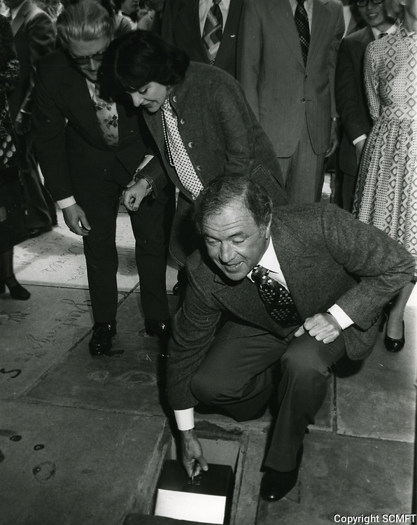 1979 Ted Mann places time capsule in forecourt of Grauman's Chinese Theater