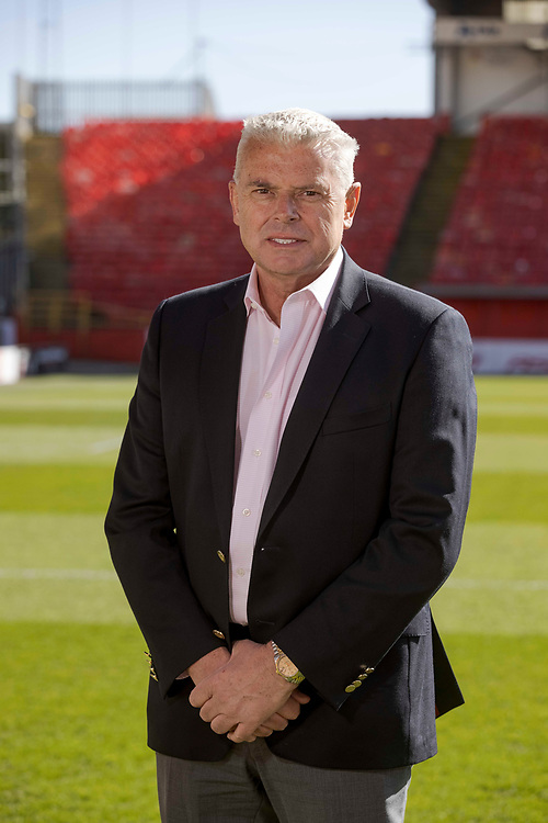 ABERDEEN FC NEW MANAGER MEETS THE MEDIA AFTER STARTING NEW JOB<br /> <br /> PIC OF CHAIRMAN DAVE CORMACK  AT PITTODRIE STADIUM <br /> <br /> PIC DEREK IRONSIDE / NEWSLINE MEDIA