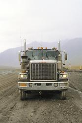 Trucker On Haul Road