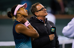 March 9, 2019 - Indian Wells, USA - Naomi Osaka of Japan after winning her second-round match at the 2019 BNP Paribas Open WTA Premier Mandatory tennis tournament (Credit Image: © AFP7 via ZUMA Wire)