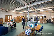 A brand new ED department had been completed before Covid but one of the large rooms above ED was rapidly turned into a PPE store / provision room to streamline the collection point for staff from many different wards. <br /> <br /> From my exhibition series for  Betsi Cadwaladr via the Betsi Research Unit.<br /> <br /> My brief was not frontline action as seen on all news outlets, but the way hospitals & staff have adapted to cope with the crisis, from PPE to social distancing & also those vital behind the frontline workers essential throughout the crisis to support frontline NHS staff.<br />  <br /> A small touring exhibition will be open to the public when safer times permit.