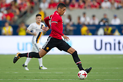 July 15, 2017 - Carson, California, U.S - Manchester United D Chris Smalling (12) in action during the summer friendly between Manchester United and the Los Angeles Galaxy at the StubHub Center. (Credit Image: © Brandon Parry via ZUMA Wire)