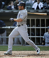CHICAGO - APRIL 09:  Johnny Damon #22 of the Tampa Bay Rays bats against the Chicago White Sox on April 09, 2011 at U.S. Cellular Field in Chicago, Illinois.  The White Sox defeated the Rays 4-2.  (Photo by Ron Vesely) Subject: Johnny Damon