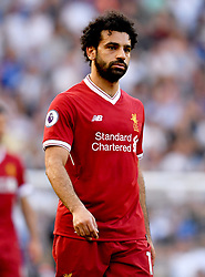 Liverpool's Mohamed Salah appears dejected during the Premier League match at Stamford Bridge, London.