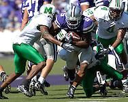 Kansas State running back Thomas Clayton (5) brakes up the middle against Marshall at Bill Snyder Family Stadium in Manhattan, Kansas, September 16, 2006.  The Wildcats beat the Thundering Herd 23-7.